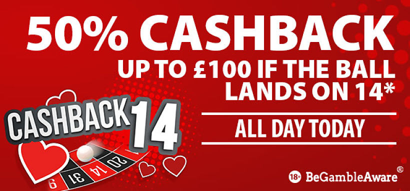 Valentines Roulette Cashback