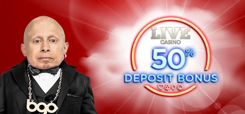 BGO Live Casino Bonus