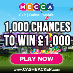 1000 Chances To Win £1000 - Mecca Bingo