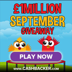 1Million Bingo Prize Draw September 2016