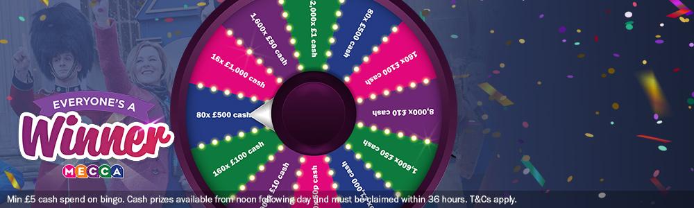 Everyone's a winner Mecca Bingo