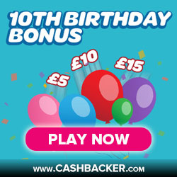 Sun Bingo 10th Birthday Bonus