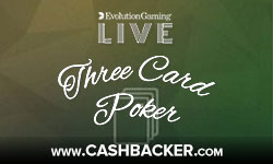 Casumo Live Three Card Poker