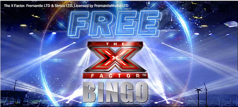 X Factor Free Bingo