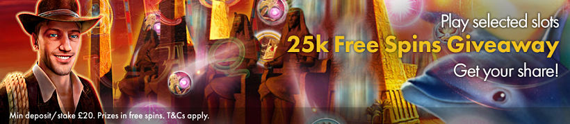25K Free Spins Giveaway