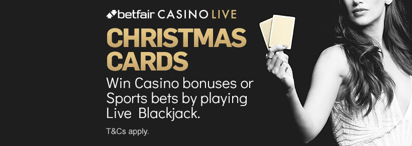 Live Blackjack Christmas Cards
