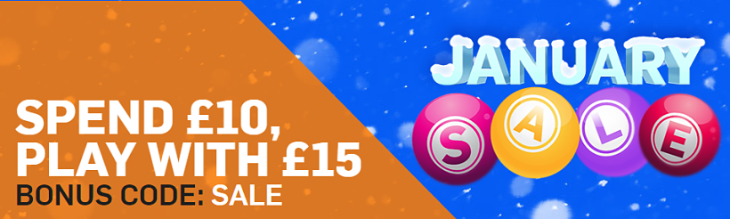 Betfair Bingo January Sale