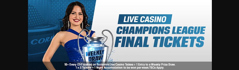 Live Casino Champions Draw