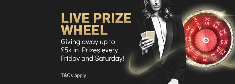 Live Prize Wheel