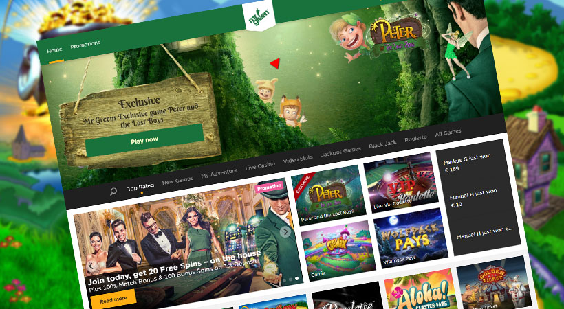mr green casino, sportsbook & slot games